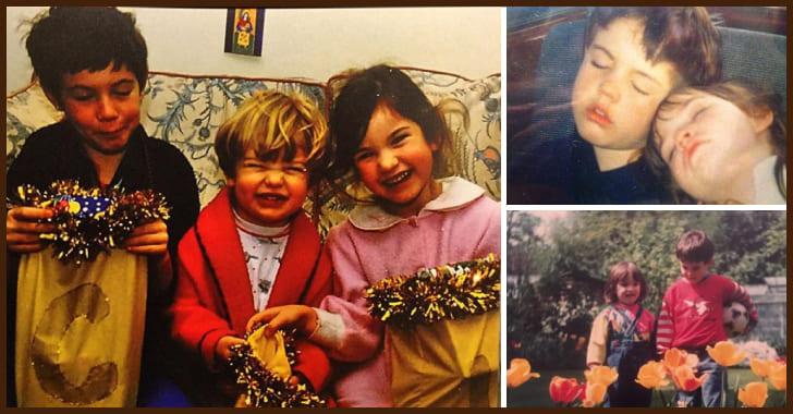 家族と仲が良い幼い頃のリリー・ジェームズ
